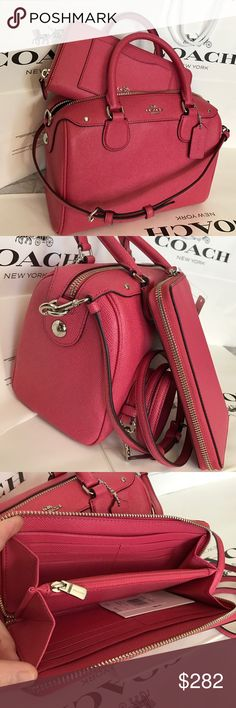 🍀Coach Set🍀 100% Authentic Coach Purse Crossbody and Wallet, both brand new!.😍Great gift for Mother's Day!.❤️ Coach Bags Crossbody Bags