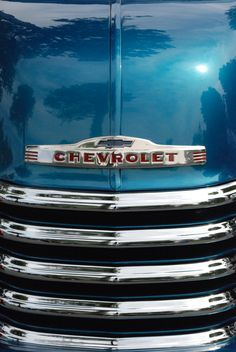 Blue Chevy truck grille - by Matt Jury Gm Trucks, Cool Trucks, Cool Cars, Pickup Trucks, Classic Chevrolet, Classic Chevy Trucks, Classic Cars, Chevy 3100, Chevy Pickups