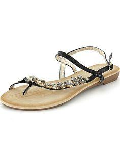 Platte sandalen met steentjes Dameskleding 20,00€ voor Platte sandalen- Ontdek onze klein geprijsde collecties op de afdeling {3}