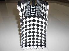 postup tvorby černo-bílé kabelky
