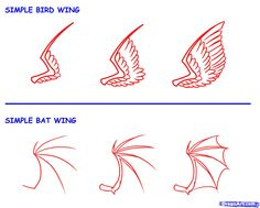 How To Draw Wings Step By Step | by dawn 48 how to draw a minecraft pig by dawn 49 how to draw chibi ...