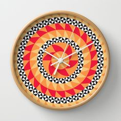 Abstract Kaleidoscope Pattern Wall Clock by Dpat Designs - $30.00