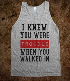 Trouble - t-shirts/tanks and more - Skreened T-shirts, Organic Shirts, Hoodies, Kids Tees, Baby One-Pieces and Tote Bags
