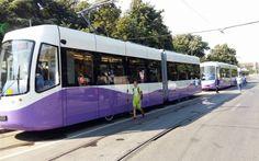 Singurele tramvaie cu aer condiţionat din Timişoara, interzise călătorilor. Garniturile sunt folosite, momentan, doar pentru paradă Films, Train, Movies, Cinema, Movie, Film, Movie Quotes, Strollers, Cinematography