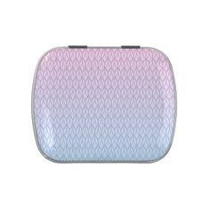 Hot Pink Blue Gradient Oval Pattern Candy Tin #pink #blue #pattern #oval #gradient #girly #trendy #white #oudeen #geometric #aztec #abstract #colorful #modern #whimsical #accessories #design #gift
