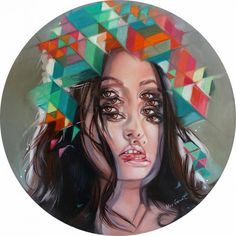 As a pioneer of Contemporary Figurative Op Art, Alex Garant establishes herself as one of the leaders of analogue Glitch Art by using patterns, duplication of elements, symmetry and image superposition as key components of her imagery. Eye Painting, Painting Gallery, Alex Garant, Street Art, Double Vision, Psy Art, Glitch Art, Pop Surrealism, Canadian Artists