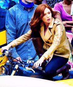 "Scarlett Johansson on the set of ""Captain America: Civil War"" in Atlanta, May 15, 2015"