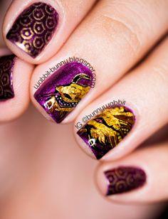 The Desolation of Smaug inspired nail art