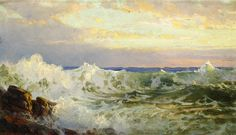 Rolling Surf, Pink Clouds (William Trost Richards - )