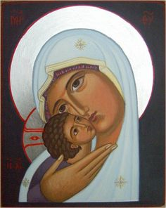 Mother of God of Tenderness Icon Religious Images, Religious Icons, Religious Art, Byzantine Art, Byzantine Icons, Virgin Mary Art, Hail Holy Queen, Spiritual Paintings, Religion Catolica