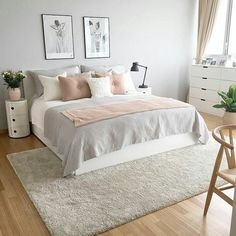Image result for grey pink and white bedroom