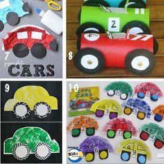 Knutselen met kinderen - Thema: auto's - Cars Crafts for Preschoolers: Recycled Materials -Kidz Activities