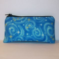 Padded Pipe Pouch Blue Sky Pouch Glass Pipe Case by PouchAPalooza.com
