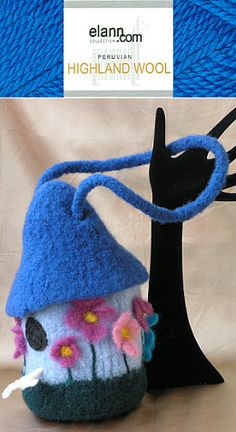 Free Pattern: Felted Bird House Handbag. Wouldn't a little girl just love this?