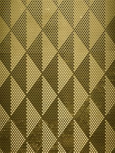 Brass Cemile - the brass version of our indented surfaces whose pixels are angled differently to create tones, shades and patterns/imagery to our clients specifications.
