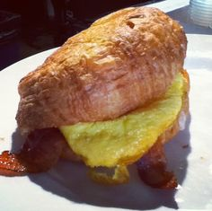 Breakfast croissant from The Beat Coffeehouse in Las Vegas.