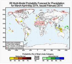 #Apicultura Previsión mundial de temperatura y precipitaciones de los meses de marzo, abril y mayo de 2014 http://www.apicultors.com/es/noticias-del-sector-apicola/299-previsio-mundial-de-temperatura-i-precipitacions.html