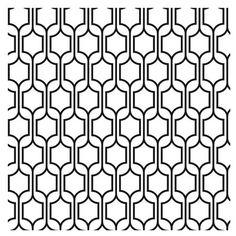 Contemporary geometric black wallpaper design.