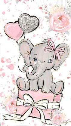 September 2 – Aimee Stoffel Garske – – Happy Painting by Clarissa Hagenmeyer – wallpaper Baby Elephant Drawing, Elephant Drawings, Baby Animal Drawings, Elephant Illustration, Cute Elephant, Elephant Print, Birthday Cards, Happy Birthday, Diy Birthday