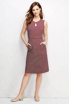Women's Ponté Keyhole Sheath Dress - Pattern from Lands' End  Tall - $89