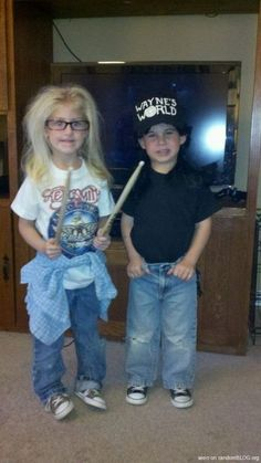 Freakin adoreable.  But really, have these kids seen Wayne's World?  It's like that pageant mom who dressed her girl up as Pretty Woman...