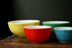 from etsy.com by sevenbc 1940s Pyrex Mixing Bowls