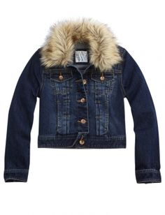 Every body would love a Denim Jacket with Removable Faux Fur Collar find all a girl would want at