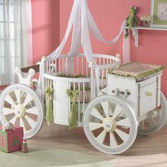 round baby beds | Minton Pink Round Baby Bedding and Nursery Necessities in Interior ...