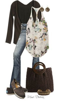 """""""Chocolate Toms"""" by madamedeveria ❤ liked on Polyvore"""