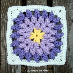 "Free pattern for ""Popcorn Flower Square""!"