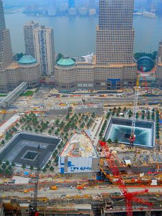 the water pool flowing at the WTC site