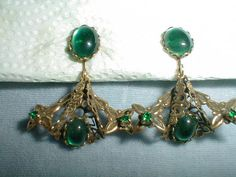 vintage made in austria antiqued goldtone by fadedglitter42263, $22.00