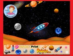 Space World Game. Create your own space world cartoon! Blast off in a rocket ship or dazzle your picture with colorful stars. Create Yourself, Create Your Own, Games, Pictures, Color, Outer Space, Planets, Superheroes, Photos