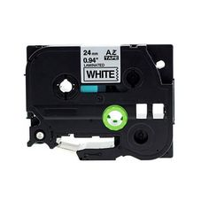 """Brother TZe-251 24MM (1"""") Black on White Compatible Label Tape"""