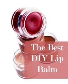 The Best DIY Lip Balm ever!! This has petroleum jelly in it so I will have to think about whether I will try it or not.