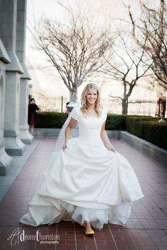 Classic Ballgown - Modest Wedding Gown http://www.pinterest.com/modestbride/modest-wedding-gowns/