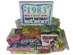 '80s Retro Nostalgic Candy Decade 30th Birthday Gift Box