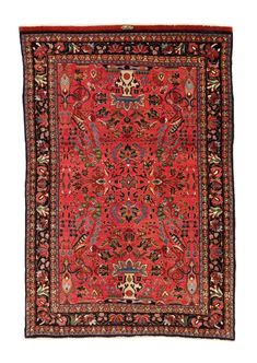 signed Bijar wedding rug Size: Cm 207 x 139 – Ft x Circa 1920 – Farmand Gallery Rugs On Carpet, Carpets, Red Rugs, Tribal Rug, Rug Size, Persian, Bohemian Rug, Oriental, Weaving