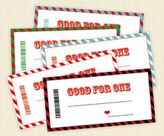 Printable Father's Day coupons - fill in your own and get creative!