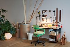 VitraHaus enlisted British designer Jasper Morrison to transform Level I of their headquarters in Weil am Rhein into a living space for a fictional dweller. Decor, Office Inspiration, Furnishings, Eames House, Eames Storage Unit, Interior, Desk Units, Vitra Design, Eames Desk