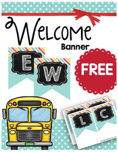 Welcome your students back to school with this adorable teal, red, yellow and grey banner!It would make my day if you take a moment to leave feedback!Do you love the color scheme?  I have organizational tools, classroom decor and even a calendar set that matches!Save money and purchase these in my Complete Decor BUNDLESee my other coordinating classroom decor here:Complete Calendar SetEditable Binder Covers SetEditable Schedule CardsClassroom JobsChalkboard Name Plates, Tags & LabelsEdita...