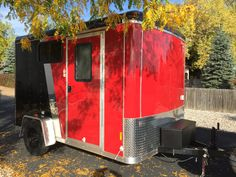 Cargo trailer camper conversion - I love small spaces and thinking creatively on living more with less. This 7 cargo trailer has a full galley, full size bed, and bathroom. All in 70 sq ft! Easy to tow and simple to enjoy! Enclosed Trailer Camper, Cargo Trailer Camper Conversion, Cargo Trailers, Travel Trailers, Converted Cargo Trailer, Diy Camper Trailer, Overland Trailer, Tiny Trailers, Utility Trailer