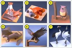 Rare Animals Of Japan Papercraft Collection - by Yamaha    This collection of paper models offered by Yamaha Motors  - == - website presents seven Rare Animals of Japan to print, cut and assemble. You can choose between two versions: black and white or with colored textures.