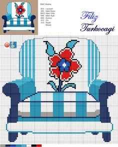 Seri- 3 ( İznik chini flower ) Designed by Filiz Türkocağı...