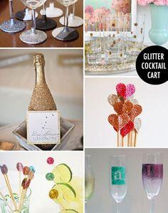 Glitter Cocktail Cart