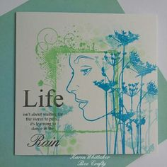 Ladies Profile and Wildflower stamps by Bee Crafty  #beecraftystamps #dtsample #ladiesprofile #wildflower #flowers #splatterswirl #uprightrectangle #frame #lifeandrain #distressoxides #distressinks #stamps #stamping #card #creative #craft #ilovetocraft #creativity #karenzkardz