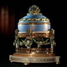 The Fabergé Love Trophy Egg, presented by Tsar Nicholas II to his mother, the Dowager Empress Maria Feodorovna, for Easter 1907.