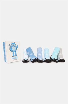 """Infant snowflake socks in """"toodee"""" blue #pinparty"""