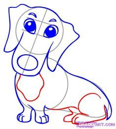 how+to+draw+a+dachshund | to Draw a Dachshund, Step by Step, Pets, Animals, FREE Online Drawing ...