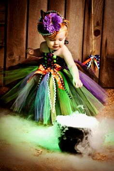 The Widkediest Witch Tutu Dress Costume by www.BlissyCouture.com, $75.00